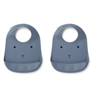 Liewood  - TILDA SILICONE BIB RABBIT BLUE WAVE (2 pack) - Accessories