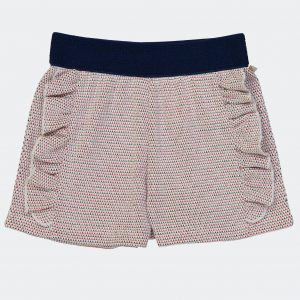 Blune  - RADIO CROCHET NAVY SHORTS - Clothing