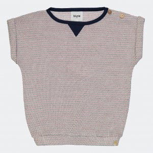 Blune  - RADIO CROCHET NAVY SWEATSHIRT - Clothing