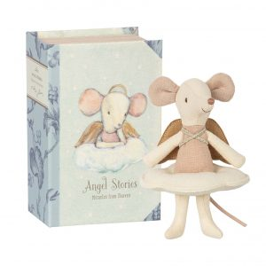Maileg  - ANGEL MOUSE BIG SISTER IN BOOK - Toys