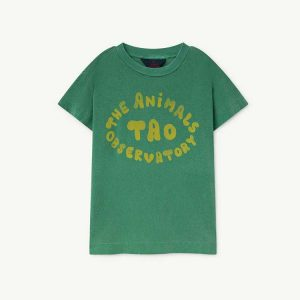 The Animals Observatory  - ROOSTER KIDS T-SHIRT GREEN THE ANIMALS - Clothing