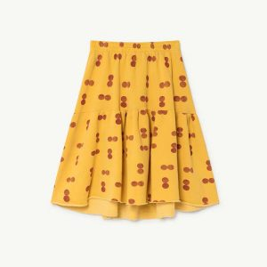 The Animals Observatory  - CAT KIDS SKIRT YELLOW CIRCLES - Clothing