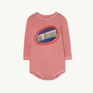 The Animals Observatory  - WASP BABIES BODY PINK THE ANIMALS - Clothing