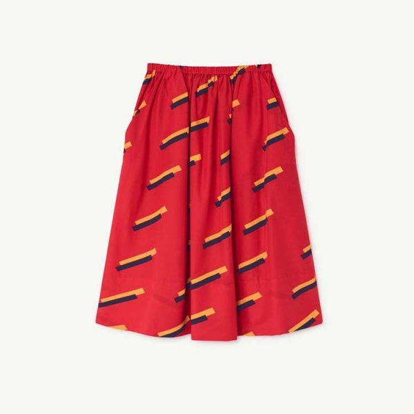 The Animals Observatory  - RED SOW KIDS SKIRT RED 80'S - Clothing