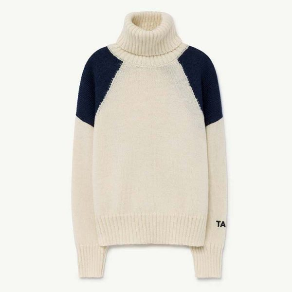 The Animals Observatory  - CONDOR KIDS SWEATER BLUE TAO - Clothing