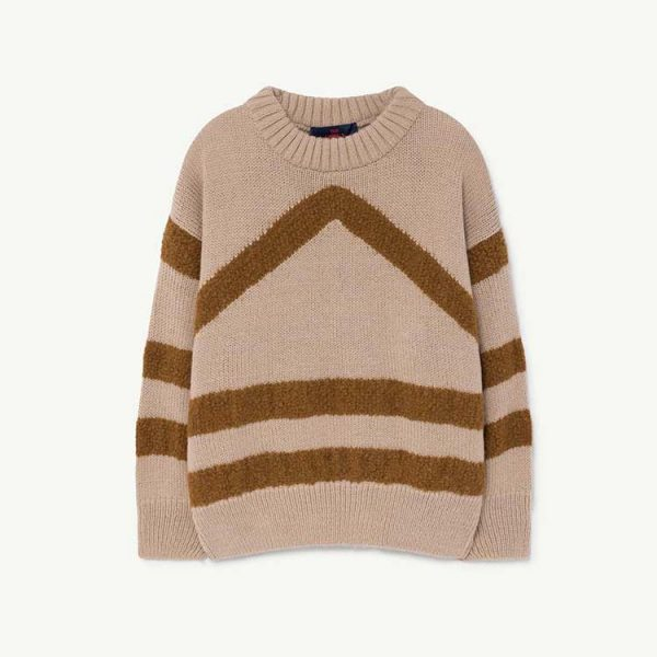 The Animals Observatory  - BULL KIDS SWEATER SOFT BEIGE - Clothing