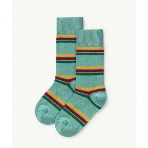 The Animals Observatory  - SNAIL KIDS SOCKS GREEN - Clothing