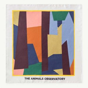 The Animals Observatory  - RAY SCARF MULTICOLOR GEOMETRIC PURPLE - Accessories
