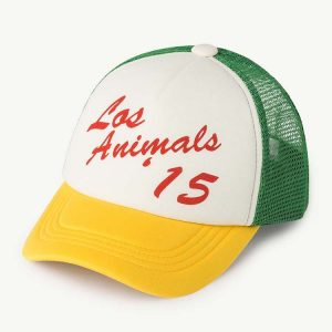 The Animals Observatory  - BIG NYLON HAMSTER CAP YELLOW LOS ANIMALS - Accessories