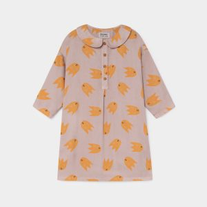 Bobo Choses  - ALL OVER COMETS BUTTONS DRESS - Clothing