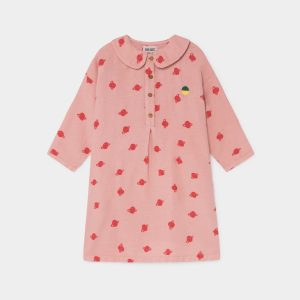 Bobo Choses  - ALL OVER SMALL SATURN BUTTONS DRESS - Clothing