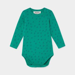 Bobo Choses  - ALL OVER STARS LONG SLEEVE GREEN BODY - Clothing