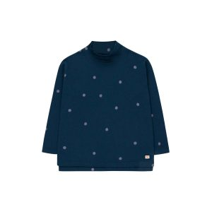 Tinycottons  - DOTS MOCKNECK TEE NAVY - Clothing