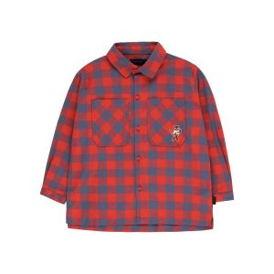 Tinycottons  - SMALL CHECK CAT SHIRT - Clothing