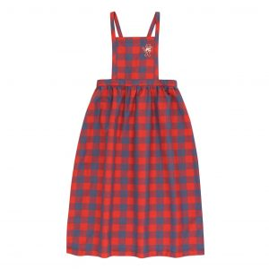 Tinycottons  - SMALL CHECK CAT BRACES LONG SKIRT - Clothing