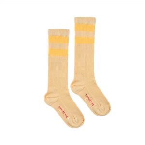 Tinycottons  - STRIPES HIGH SOCKS SAND - Clothing