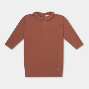 Repose AMS  - DRESS WITH COLLAR RUSSET - Clothing