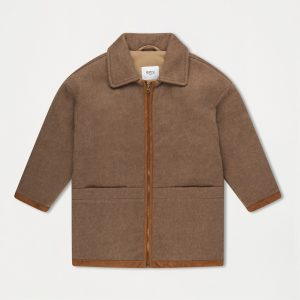 Repose AMS  - BOMBER WITH COLLAR SAND BROWN - Clothing