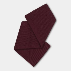 Repose AMS  - KNITTED SCARF SMALL ROSEWOOD RED - Accessories