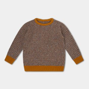 Repose AMS  - KNITTED RAGLAN SWEATER CONTRAST TWILL - Clothing