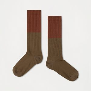 Repose AMS  - SOCKS DARK OLIVE WITH HAZEL - Clothing