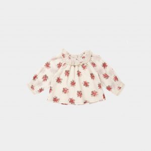 Caramel  - ADIKIA BABY BLOUSE BOUQUET PRINT - Clothing