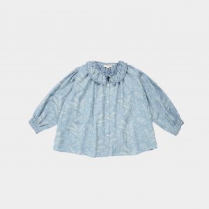 Caramel  - ADIKIA BLOUSE WHEAT PRINT CRYSTAL BLUE - Clothing