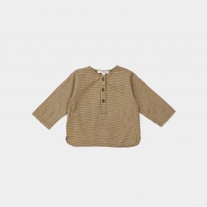 Caramel  - MOMUS BABY SHIRT FOREST MICROCHECK - Clothing