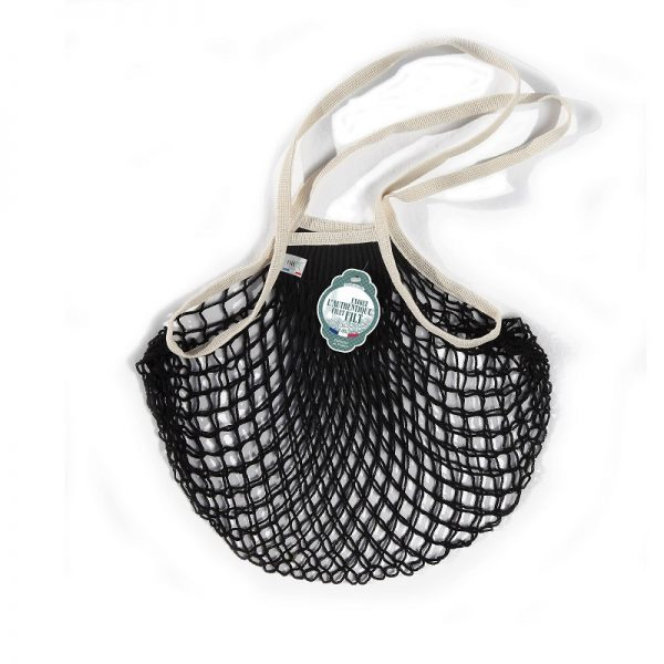 Filt  - FRENCH NET MARKET BAG BLACK ECRU - Accessories