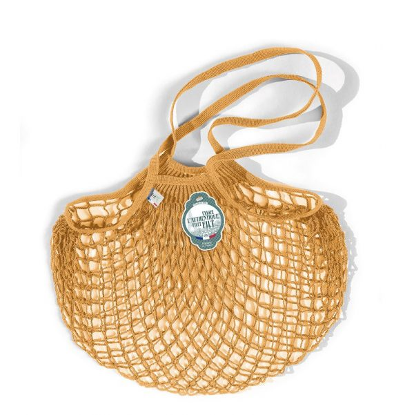 Filt  - FRENCH NET MARKET BAG YELLOW GOLD - Accessories