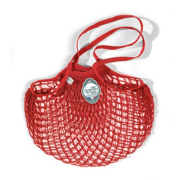 Filt  - FRENCH NET MARKET BAG RED ANEMONE - Accessories