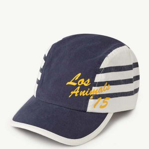 The Animals Observatory  - STRIPES HAMSTER KIDS CAP BLUE LOS ANIMALS - Accessories