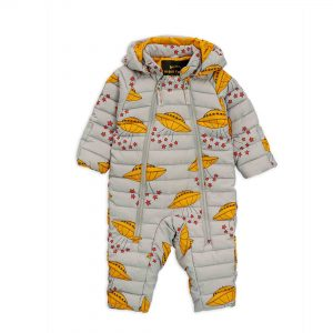 Mini Rodini  - UFO BABY OVERALL GREY - Clothing