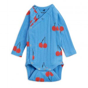Mini Rodini  - CHERRY WRAP BODY BLUE - Clothing