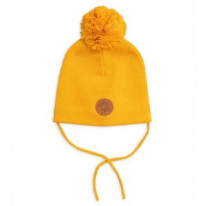 Mini Rodini  - PENGUIN BEANIE YELLOW - Accessories
