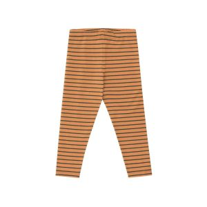 Tinycottons  - STRIPES PANT BROWN & BOTTLE GREEN - Clothing