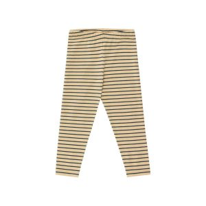 Tinycottons  - STRIPES PANT SAND & TRUE NAVY - Clothing