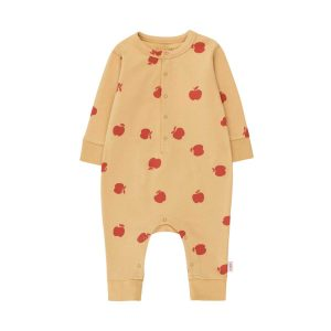 Tinycottons  - APPLES ONE-PIECE SAND & BURGUNDY - Clothing