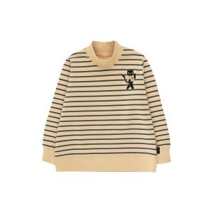 Tinycottons  - CAT SWEATSHIRT SAND & TRUE NAVY - Clothing