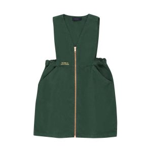 Tinycottons  - LUCKYWOOD CITIZEN V-NECK DRESS BOTTLE GREEN - Clothing