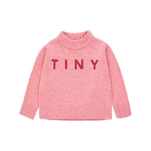 Tinycottons  - TINY MOCK SWEATER PALE PINK - Clothing
