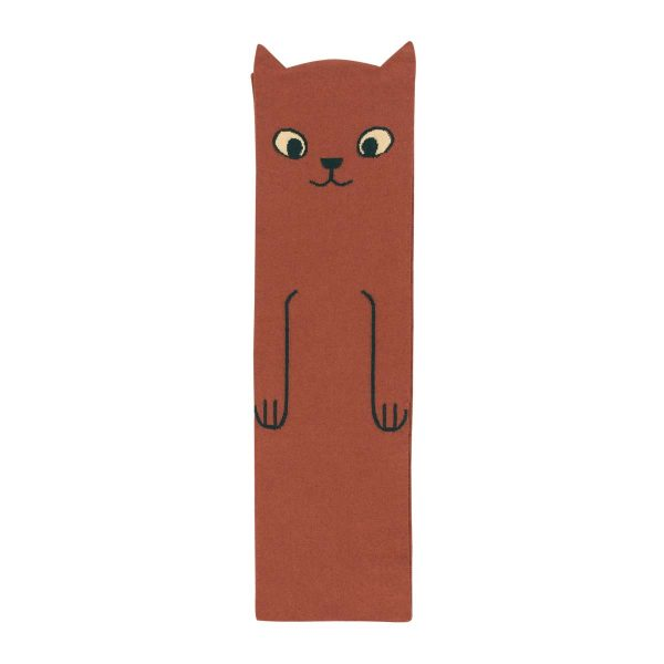 Tinycottons  - CATS SCARF DARK BROWN - Accessories