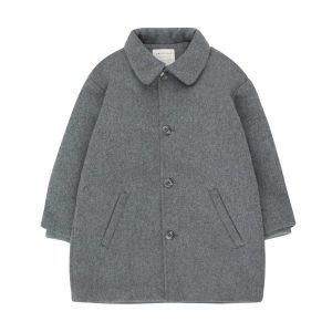 Tinycottons  - WOOLEN COAT GREY - Clothing