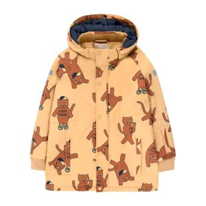 Tinycottons  - CATS SNOW JACKET SAND & BROWN - Clothing
