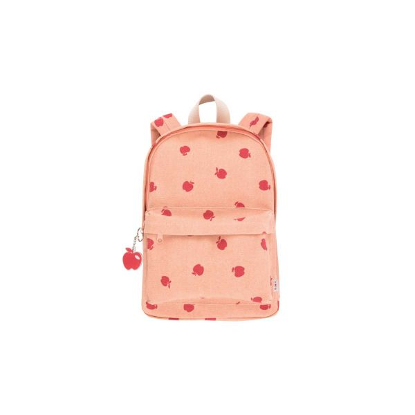 Tinycottons  - APPLES BACKPACK NUDE & BURGUNDY - Accessories