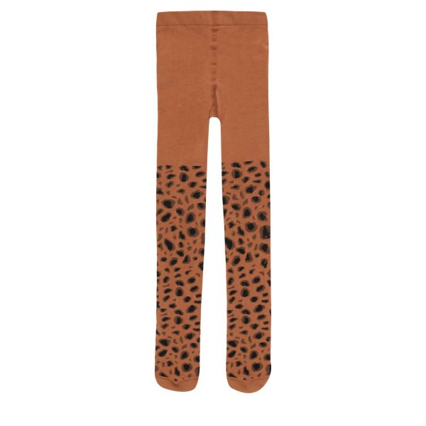 Tinycottons  - ANIMAL PATTERN TIGHTS BROWN & DARK BROWN - Clothing