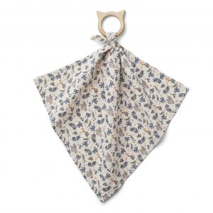 Liewood  - DINES TEETHER CUDDLE CLOTH CORAL FLORAL MIX - Homeware
