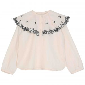 Emile et Ida  - EMBROIDERED BLOUSE ECRU - Clothing