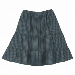 Emile et Ida  - GINGHAM SKIRT GREEN - Clothing
