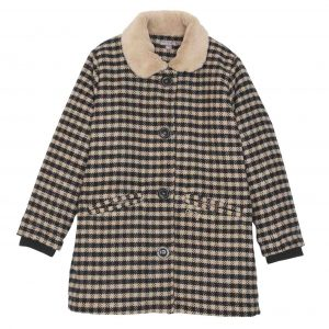 Emile et Ida  - GINGHAM COAT CAMEL - Clothing